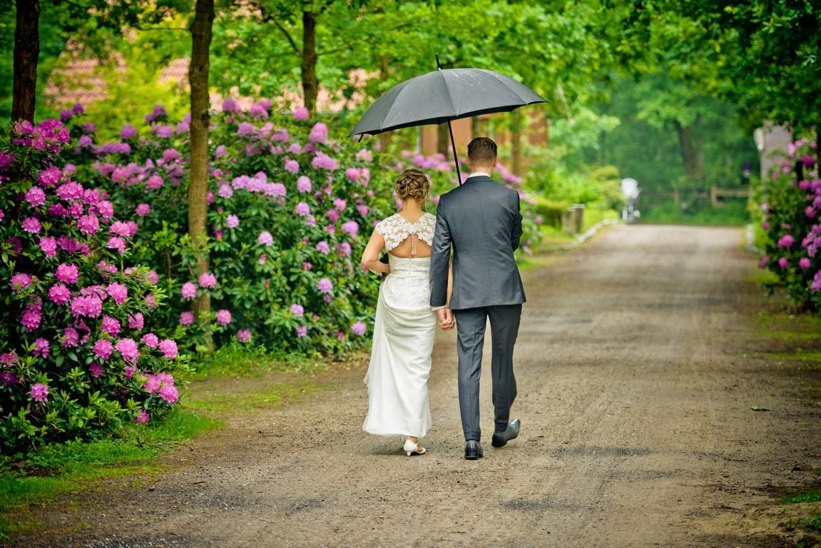 Bruidspaar in het Lutterzand